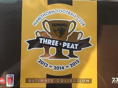 HAWTHORN - Three-Peat 2013 2014 2015 AFL Ultimate Collection 23 DVD BRAND NEW!
