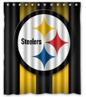 Custom Pittsburgh Steelers American Shower Curtain 60 X 72 Inch One Side Printed