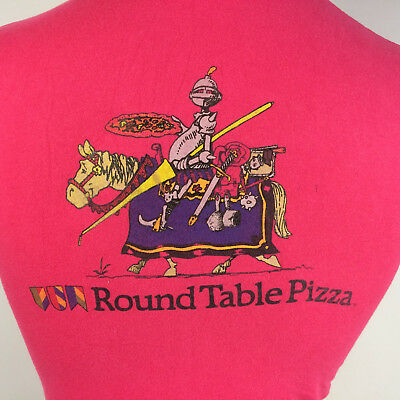 Round Table Pizza Delivery.Rare Vtg 70s 80s Round Table Pizza Delivery Uniform T Shirt Cartoon California