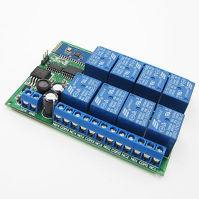 8 Channel 12V Bluetooth Relay Android Mobile Remote control Switch ATF