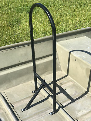 Grab Bar Rail For Jon Boats Stand Up Adjustable Powdercoated Lightweight