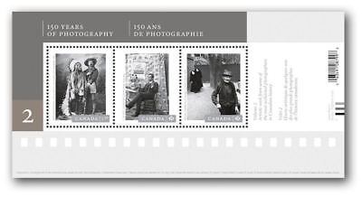 2014 Canadian Photography - Souvenir Sheet (Three  stamps) -SC# 2756 MNH