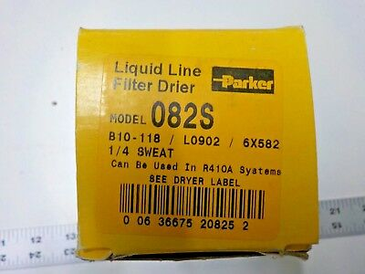"NEW Parker 1/4"" Sweat Liquid Line Filter Drier 082s OR B10-118"