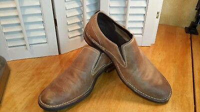 Cole Haan Mens light brown leather slip on  casual loafer US size 9.5 M
