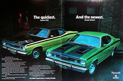1971 PLYMOUTH DUSTER TWISTER Genuine Vintage Ad ~ Rapid Transit System
