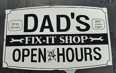 DAD's FULL SERVICE STATION TEXACO GULF Wall art/SIGN #1 DAD FATHERS DAY GIFT