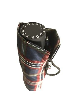 Brooks Brothers Signature Tartan Mini Umbrella Classic Design Works