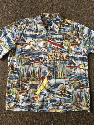 Vintage Toes to The Nose California 90's Mens Beach Shirt Surf Surfing RARE