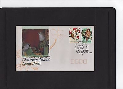 1996 Christmas Island Land Birds First Day Cover