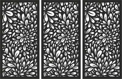 Laser Cut Decorative Privacy Screen Indoor/Outdoor Wall Art 1200x600mm 3 Pack