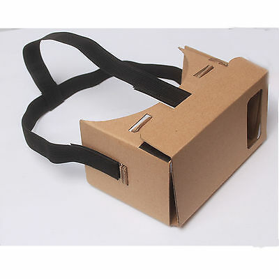 Black Head Mount For Google Cardboard Virtual Reality 3D Glasses Head Strap HotS