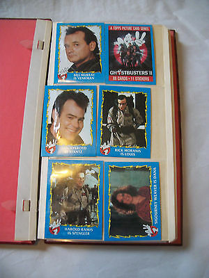 Vintage original Ghost Busters II, Trading Cards. 76 cards in Album