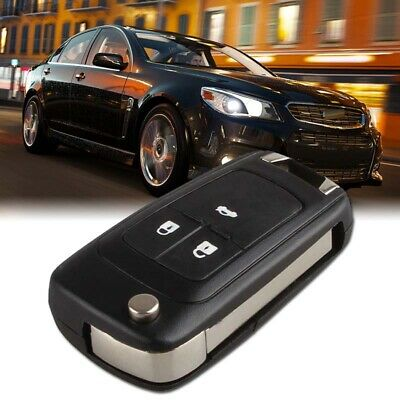 Car 3 Button Flip Remote Key Fob Case Shell for Chevrolet Camaro Cruze Equinox