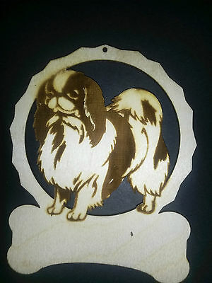 Personalized Japanese Chin dog ornament