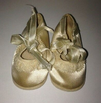 Vintage Mrs Day's Ideal Doll Baby Shoes Size 0