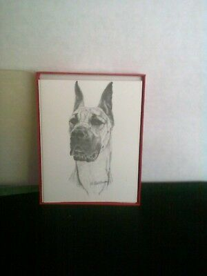 Great Dane Fawn Notecards With Envelopes