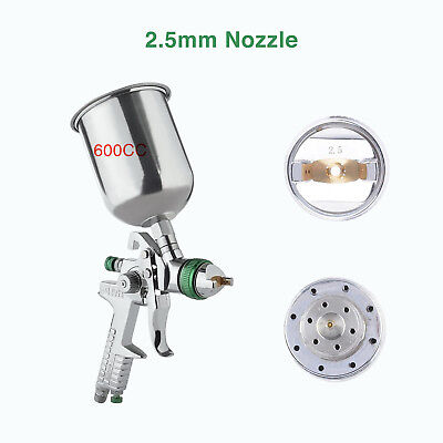 2.5 mm HVLP Gravity Spray Gun Kit with Auto Paint Primer Metal Flake