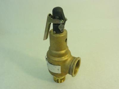 """162674 Old-Stock, Kunkle 6021GFT01-AM0125 Safety Valve, 1-1/4"""", 2561 LB/H, 85 PS"""