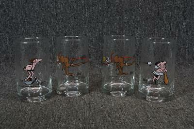 """5"""" Tall Set Of 4 Arby's B.C. Ice Age Collectors Series C. 1981 Glasses"""