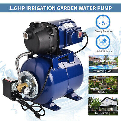 1200W 1000GPH Garden Water Pump Shallow Well Pressurized Home Irrigation