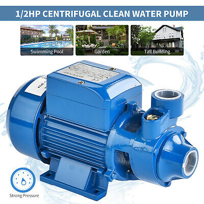1/2HP Centrifugal Clear Clean Water Pump Electric Industrial Farm Pool Pond