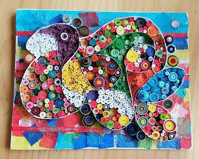#1 Original Quilled Abstract Art. One of a kind, unframed