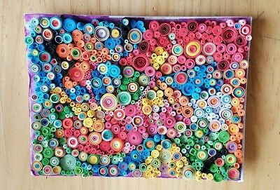 #3 Original Abstract Quilled Artwork. One of a kind, unframed.