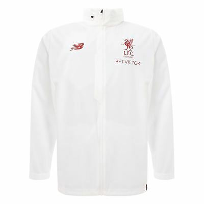 FC Liverpool 2017/2018 LFC Mens Football White Rain Jacket Official Shop