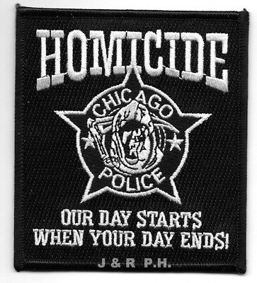 "*NEW*  Chicago  Homicide, IL  (3.5"" x 4"" size) shoulder police patch  (fire)"