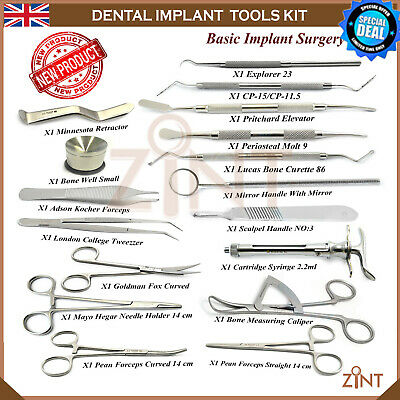 Set Of 17 Basic Implant Kit Oral Advanced Surgery Best Implantology Instruments