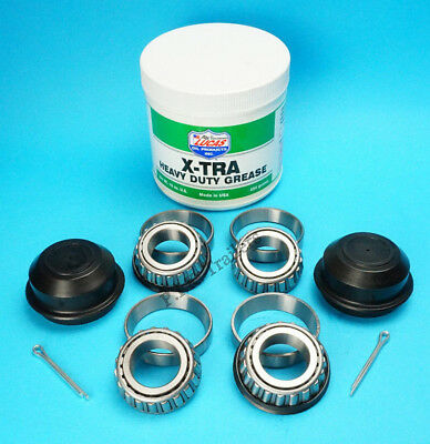 1 Axle Wheel Bearing Kit L44643 44610 with Grease & 50mm Caps & Split Pins #K120