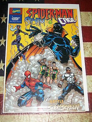Spider-Man Storm and Cage Comic Books  VF CONDITION
