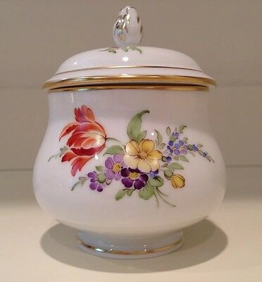 Hochst Hand-Painted Porcelain Floral Covered Jar Made in Germany New