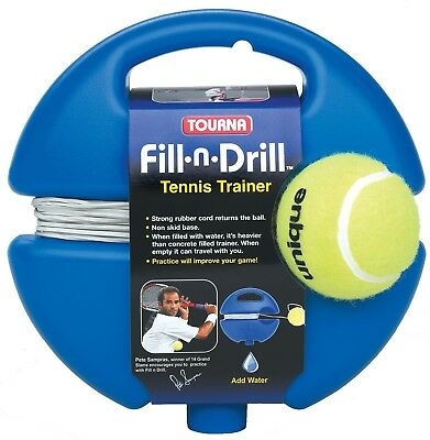 Tennis Trainer Tourna Fill Drill Training Aid Practice Swing Strokes Warm Up