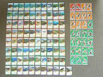 WOOLWORTHS ANCIENT ANIMALS -COMPLETE SET OF 81 CARDS & 27 STICKERS new condition