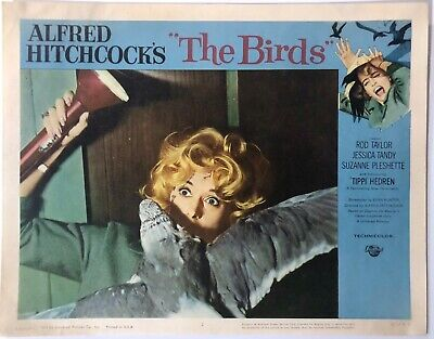 "The Birds 1963 (5) Original Movie Poster Lobby Cards (11""x14"") Hitchcock"