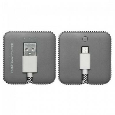 New Native Union Jump Cable Micro USB - Slate Built-in rechargeable Battery