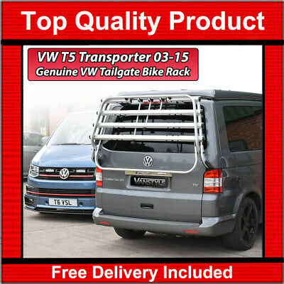 Vw Transporter T5 T5.1 Genuine Oe Thule Tailgate 4 Bike Bicycle Holder Rack