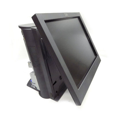 """IBM 4852-566 Point of Sale System w/ Power Supply & 15"""" Touch Screen Interface"""