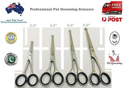 "PROFESSIONAL PET DOG GROOMING CURVED BALL TIP HAIR CUTTING SCISSORS 3.5"" to 6.5"""