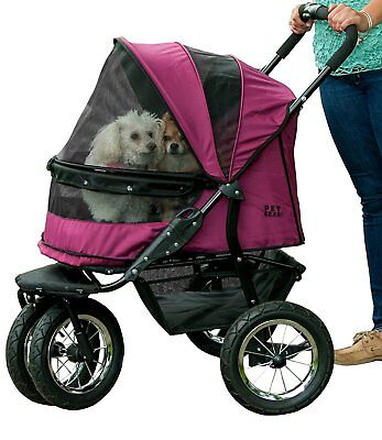 Pet Gear NO-ZIP Double Pet Stroller in 2 Colors with 90 pound capacity PG8700NZ