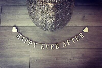 happy ever after sign wall feature wedding decor vintage shabby chic sign wood