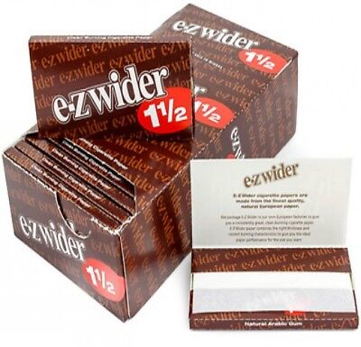 Full Box 24x Packs ( E-Z EZ Wider 1.5 1 1/2 ) Rolling Paper Papers