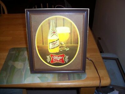 1960s vintage miller high life bar light 4000 picclick 1960s vintage miller high life bar light aloadofball Images