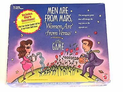 Men Are From Mars Women Are From Venus Board Game by Mattel 1998 NEW vtg