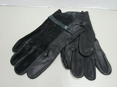 USGI Black Leather D3A Gloves Shell Cattlehide 1990 Date Size 5 NOS Gulf War Era