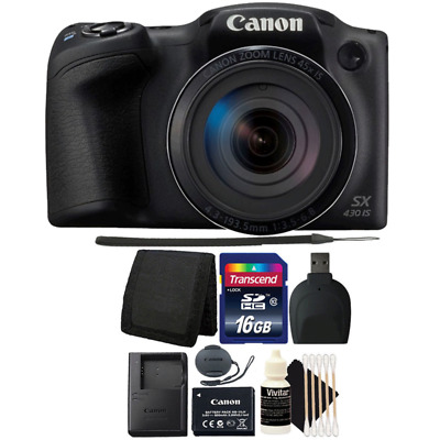 Canon PowerShot SX430 IS Digital Camera with Accessories