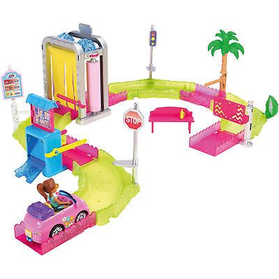 Neu Mattel Barbie On The Go Waschanlage Spielset 7440040