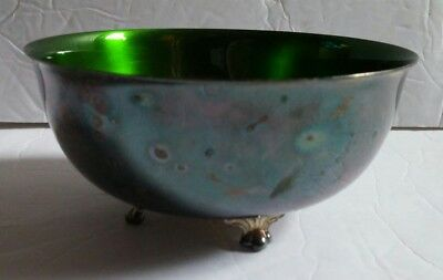 Wallace Color Clad Silver plate Small Footed Bowl with Lion Feet M637