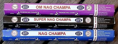 20 - 60 Sticks Incense CHOOSE SCENT or MIXED Bulk Natural Nag Champa OM Insence